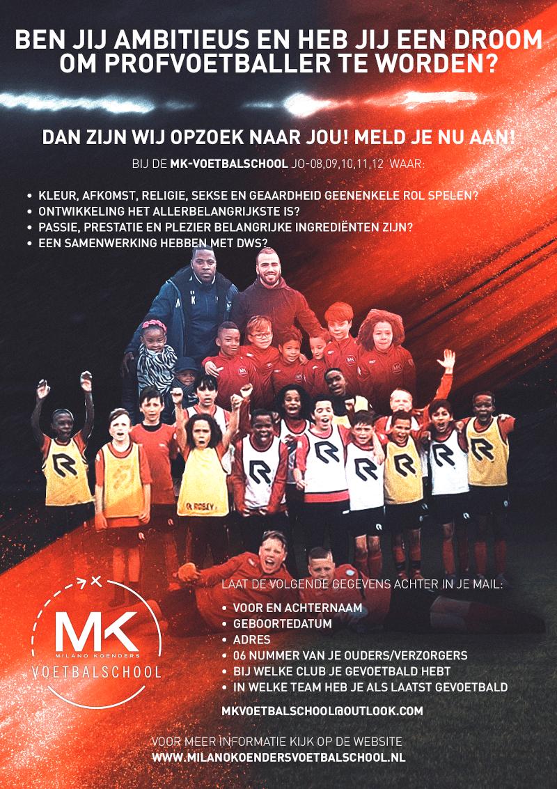 aanmelding voetbaltraining 8 tot 12 jaar Amsterdam